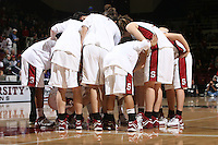 10 February 2007: Stanford Cardinal Jayne Appel, Markisha Coleman, Clare Bodensteiner, Michelle Harrison, JJ Hones, Candice Wiggins, Christy Titchenal, Cissy Pierce, Rosalyn Gold-Onwude, Brooke Smith, Morgan Clyburn, Melanie Murphy, Jillian Harmon, and Kristen Newlin during Stanford's 80-54 win against the Washington Huskies at Maples Pavilion in Stanford, CA.
