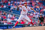 20 September 2015: Washington Nationals pitcher Matt Grace on the mound against the Miami Marlins at Nationals Park in Washington, DC. The Nationals defeated the Marlins 13-3 to take the final game of their 4-game series. Mandatory Credit: Ed Wolfstein Photo *** RAW (NEF) Image File Available ***