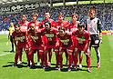 Kashima Antlers team group line-up, APRIL 29, 2011 - Football: (Top row - L to R) Takeshi Aoki, Yuya Osako, Daiki Iwamasa, Masahiko Inoha, Takuya Nozawa, Hitoshi Sogahata, (Bottom row - L to R) Mitsuo Ogasawara, Alex, Shinzo Koroki, Daigo Nishi and Yasushi Endo before the 2011 J.League Division 1 match between Avispa Fukuoka 1-2 Kashima Antlers at Level 5 Stadium in Fukuoka, Japan. (Photo by AFLO)