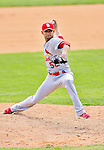 12 March 2012: St. Louis Cardinals pitcher Eduardo Sanchez in action during a Spring Training game against the Washington Nationals at Space Coast Stadium in Viera, Florida. The Nationals defeated the Cardinals 8-4 in Grapefruit League play. Mandatory Credit: Ed Wolfstein Photo