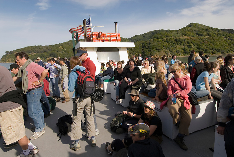 Ferry ride from Angel Island to Tiburon in San Francisco Bay, CA, California, after day trip to Angel Island State Park..Photo camari258-70585..Photo copyright Lee Foster, www.fostertravel.com, 510-549-2202, lee@fostertravel.com.