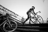 Corne Van Kessel (NED/Telenet-Fidea) racing up the steps<br /> <br /> elite men's race<br /> GP Sven Nys 2017