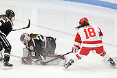 Lizzy Otten (Union - 5), Alana Marcinko (Union - 29), Rebecca Russo (BU - 18) - The Boston University Terriers defeated the visiting Union College Dutchwomen 6-2 on Saturday, December 13, 2012, at Walter Brown Arena in Boston, Massachusetts.