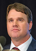 Jay Gruden makes remarks as he is introduced as the new head coach of the Washington Redskins at a press conference at Redskins Park in Ashburn, Virginia on Thursday, January 9, 2014<br /> Credit: Ron Sachs / CNP