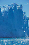 A section of the face of Perito Moreno glacier, Los Glaciares National Park,Santa Cruz Province,Argentina.