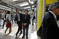 Subway scenes in Tokyo...