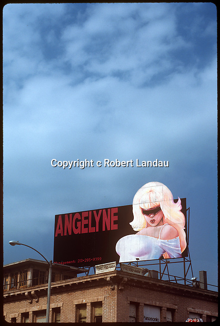 Angelyne billboard on Hollywod Blvd. circa 1992