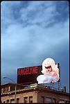 Angelyne billboard on Hollywod Blvd. circa 1992