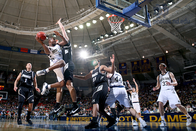 Tory Jackson puts up a shot against Providence.  ND won the game in overtime.