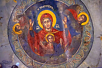 Fresco of the 12th century Byzantine Holy Church of Nea Megali Panagia, restored 1727, Thsalonica, Greece