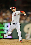 20 September 2012: Washington Nationals pitcher Christian Garcia on the mound against the Los Angeles Dodgers at Nationals Park in Washington, DC. The Nationals defeated the Dodgers 4-1, clinching a playoff birth: the first time for a Washington franchise since 1933. Mandatory Credit: Ed Wolfstein Photo