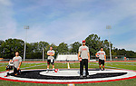 Cheshire, CT-24 August 2012-082412CM01-  L-R, Cheshire footballs, Sam Pascale, Vincent Sansone, Coach Don Drust and Matt Escoto.  Christopher Massa Republican-American