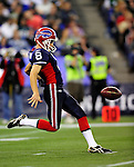 3 December 2009: Buffalo Bills' punter Brian Moorman in action against the New York Jets at the Rogers Centre in Toronto, Ontario, Canada. The Jets defeated the Bills 19-13. Mandatory Credit: Ed Wolfstein Photo