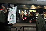 Palestinien Protests Israeli Bombardment of Gaza Strip at Israeli Consulate in NYC