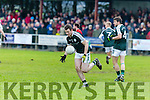 In Action  Griffins Brian Long in the  AIB Munster Junior Club Football Championship Semi-Final – Glenbeigh-Glencar (Kerry) v Gerald Griffins (Limerick) at Gerald Griffins GAA Club, Ballyhahill on Saturday