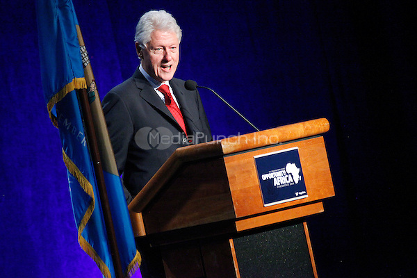 WILMINGTON, DE - MARCH 10 :  Former President Bill Clinton pictured speaking at an annual conference on Africa sponsored by U.S. Sen. Chris Coons at The Chase Center On The Waterfront in Wilmington, Delaware on March 10, 2014  photo credit Star Shooter / MediaPunch