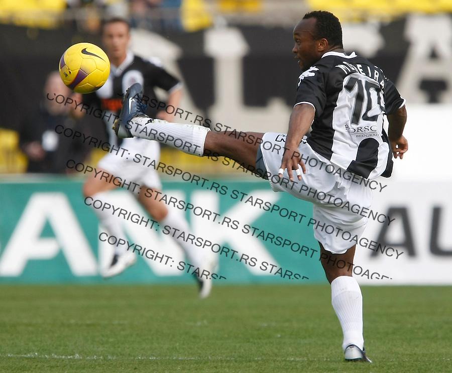 Fudbal, Meridijan liga, season 2007/08.Partizan Vs. Bezanija.Almami Moreira.Beograd, 02.04.2008..foto: Srdjan Stevanovic
