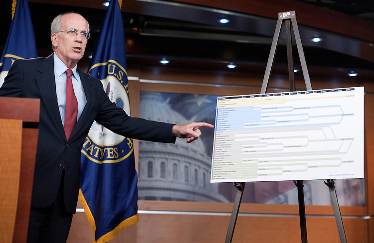 UNITED STATES – OCTOBER 13: Chief Deputy Democratic Whip Rep. Peter Welch, D-Vt., holds a news conference on Thursday, Oct. 13, 2011, on new banking fees being imposed on consumers. (Photo By Bill Clark/CQ Roll Call)