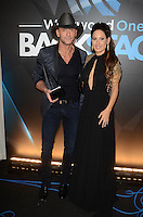 LOS ANGELES, CA - NOVEMBER 20: Tim McGraw, Kerri Kasem at Westwood One on the carpet at the 2016 American Music Awards at the Microsoft Theater in Los Angeles, California on November 20, 2016. Credit: David Edwards/MediaPunch