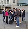 Andrea Leadsom MP<br /> for South Northamptonshire and Conservative Party Leader candidate <br /> arriving for the Andrew Marr Show at the BBC, Portland Place,  London, Great Britain <br /> 3rd July 2016 <br /> <br /> Andrea Leadsom speaks to reporters before going inside the building <br />  <br /> <br /> Photograph by Elliott Franks <br /> Image licensed to Elliott Franks Photography Services