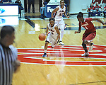Ole Miss' Valencia McFarland (3) vs. Arkansas' Keira Peak (1) in a women's college basketball game in Oxford, Miss. on Thursday, January 31, 2013. Arkansas won 77-66.