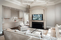 Living Room with Mounted TV