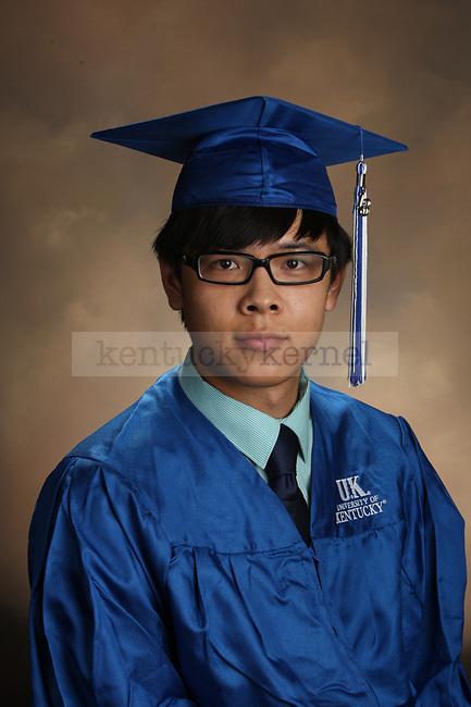 Huangfu, Youzhi graduation portrait taken at the fall Grad Salute at the University of Kentucky in Lexington, Ky., on 10/2/13.