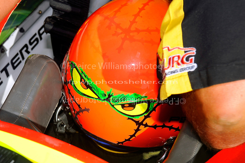 """""""He's looking for you""""? helmet of the driver Tom Thompson, U-11 """"Miss Peters and May"""""""