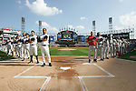 CHICAGO - OCTOBER 4:  Pregame activities at U.S. Cellular Field on October 4, 2005 in Chicago, Illinois prior to Game 1 of the American League Divisional Series between the Boston Red Sox and the Chicago White Sox.