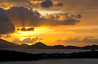 Sunset over Thatch Cay and St Thomas<br />