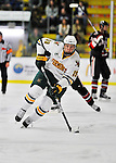 27 January 2012: University of Vermont Catamount forward Matt White, a Sophomore from McMurray, PA, in action against the Northeastern University Huskies at Gutterson Fieldhouse in Burlington, Vermont. The Catamounts fell to the Huskies 8-3 in the first game of their 2-game Hockey East weekend series. Mandatory Credit: Ed Wolfstein Photo