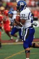 Universite de Montreal Carabins' Hantz Boursiquot in CIS football action against the Rouge et Or at the universite Laval stadium in Quebec City, September 7, 2008. Laval won 17-6 before a crowd of 15,275.
