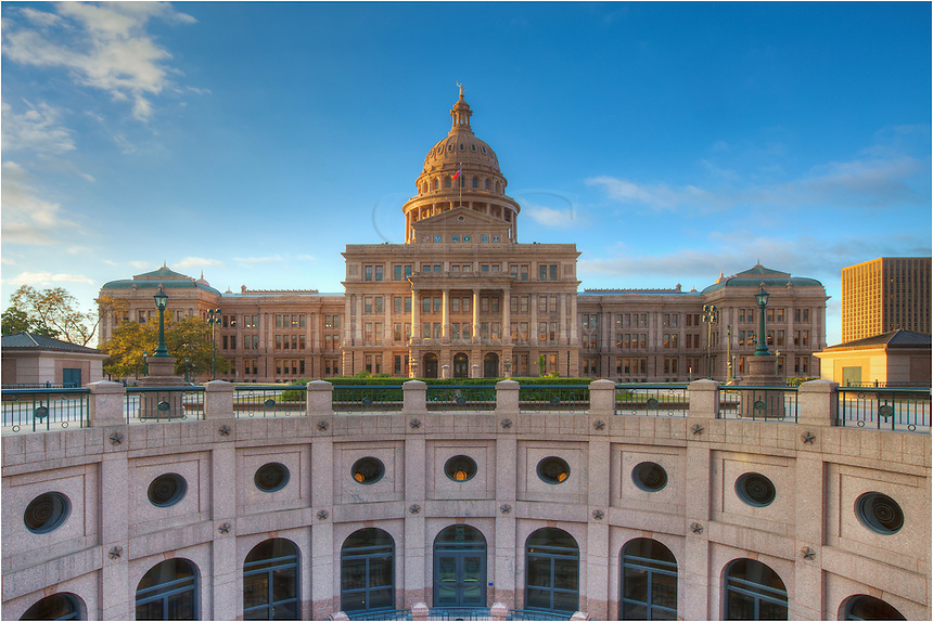 Looking over the basesment of the state capitol, this view looks south. If you could go through the building, you'd enter South Congress Avenue and head into the SoCo area. It was a pleasure shooting this location on such a beautiful fall morning.