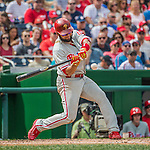 11 September 2016: Philadelphia Phillies infielder Andres Blanco in action against the Washington Nationals at Nationals Park in Washington, DC. The Nationals edged out the Phillies 3-2 to take the rubber match of their 3-game series. Mandatory Credit: Ed Wolfstein Photo *** RAW (NEF) Image File Available ***