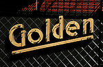 Detail of sign for Golden Gopher bar in downtwon Los Angeles