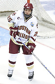 Matt Price (Boston College - Milton, ON) takes part in warmups.The Michigan State Spartans defeated the Boston College Eagles 3-1 (EN) to win the national championship in the final game of the 2007 Frozen Four at the Scottrade Center in St. Louis, Missouri on Saturday, April 7, 2007.