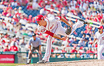 30 August 2015: Washington Nationals pitcher Doug Fister on the mound against the Miami Marlins at Nationals Park in Washington, DC. The Nationals rallied to defeat the Marlins 7-4 in the third game of their 3-game weekend series. Mandatory Credit: Ed Wolfstein Photo *** RAW (NEF) Image File Available ***