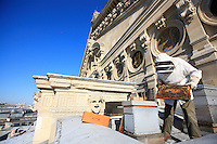 "Paris, Opera Garnier. Jean Paucton, ""The Opera, that came about because of a hive I had left in the hallway of my apartment on the Rue de Richelieu. Just behind it there were the 400 linden trees of the Palais Royal."""