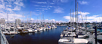 Marina Del Rey, Ca, marina, Boats, Docked, Los Angeles, Panorama