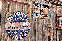Goodrich Tires - Private Property Signs - Eldorado Canyon - Nelson NV - HDR