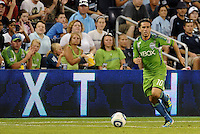 Mauro Rosales (10) midfielder Seattle Sounders in action... Sporting Kansas City were defeated 1-2 by Seattle Sounders at LIVESTRONG Sporting Park, Kansas City, Kansas.