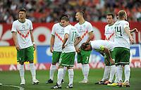 FUSSBALL   1. BUNDESLIGA  SAISON 2011/2012   6. Spieltag 1 FC Nuernberg - SV Werder Bremen         17.09.2011 Sebastian Proedl , Aleksandar Ignjovski , Clemens Fritz (v. li., SV Werder Bremen)