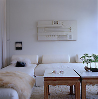 The guest bedroom doubles as a television room and study