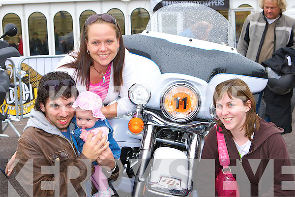 Eve Karlsson, Kevin, Freya and Claire Quinlan Killarney having fun at the Irish Motor Bike rally in the Gleneagle Hotel Killarney on Saturday     Copyright Kerry's Eye 2008