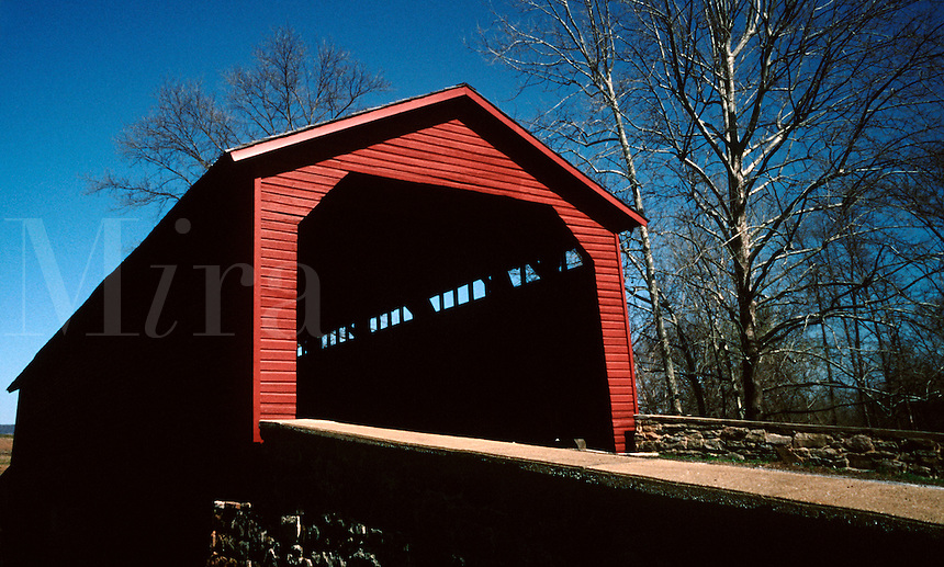 Utica Covered Bridge in Frederick County, Maryland.