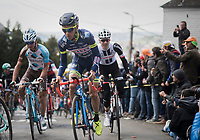 Guillaume Martin (FRA/Wanty-Groupe Gobert) up the infamous Mur de Huy<br /> <br /> 81st La Fl&egrave;che Wallonne (1.UWT)<br /> One Day Race: Binche &rsaquo; Huy (200.5km)