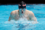 23 MAR 2012: Matthew O'Brien of Emory University swims in the 200 yard butterfly event during the Division III Men's and Women's Swimming and Diving Championship held at the IU Natatorium in Indianapolis, IN. O'Brien finished the event with a time of 1:50.75.  Joe Robbins/NCAA Photos