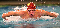 Michael Crandall of Viewmont competes in the 100 Yard Butterfly event as he participates in the 5A State Swimming Championships at the BYU campus pool in Provo, Utah, Saturday, Feb. 13, 2010. August Miller, Deseret News .