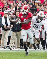 Athens, GA - November 12, 2016: The University of Georgia Bulldogs play the number 9 ranked Auburn Tigers at Sanford Stadium.