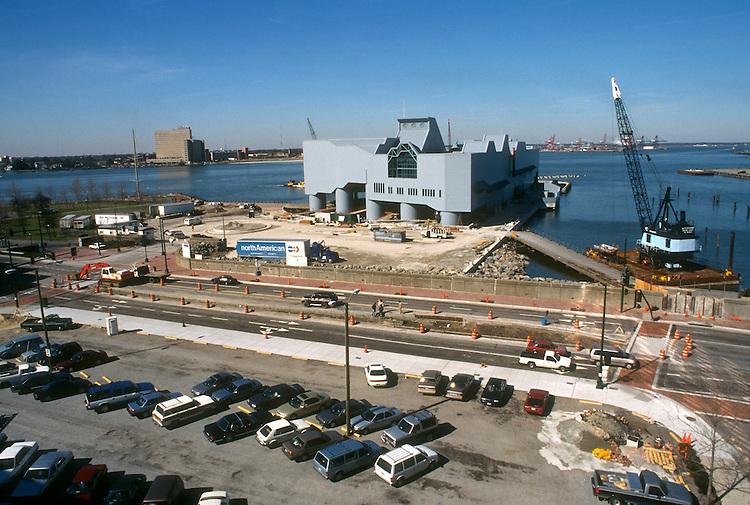 1994 February 28..Redevelopment.Downtown West (A-1-6)..NAUTICUS.CONSTRUCTION PROGRESS.FROM WORLD TRADE CENTER PARKING LOT...NEG#.NRHA#..